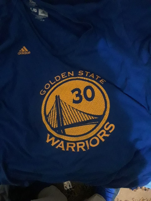 cd7501e5f17 Used blue and yellow Golden State Warriors Stephen Curry 30 jersey shirt  for sale in Belvidere - letgo