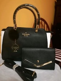 Beautiful black with white sides bag and wallet Mississauga, L4Z 4J8