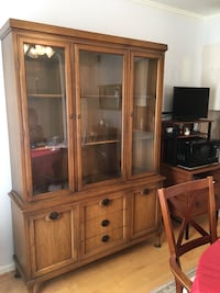 Huge wood and glass china cabinet  Germantown, 20874