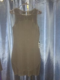 women's brown sleeveless midi dress Virginia Beach, 23456