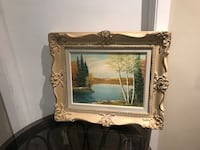 Oil painting with frame Richmond Hill, L4C