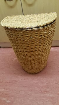 wicker basket with lid BRENT