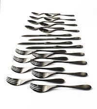 New in Box Knork 20pcs Black Titanium Flatware (4 5-Pc place settings) Washington, 20001