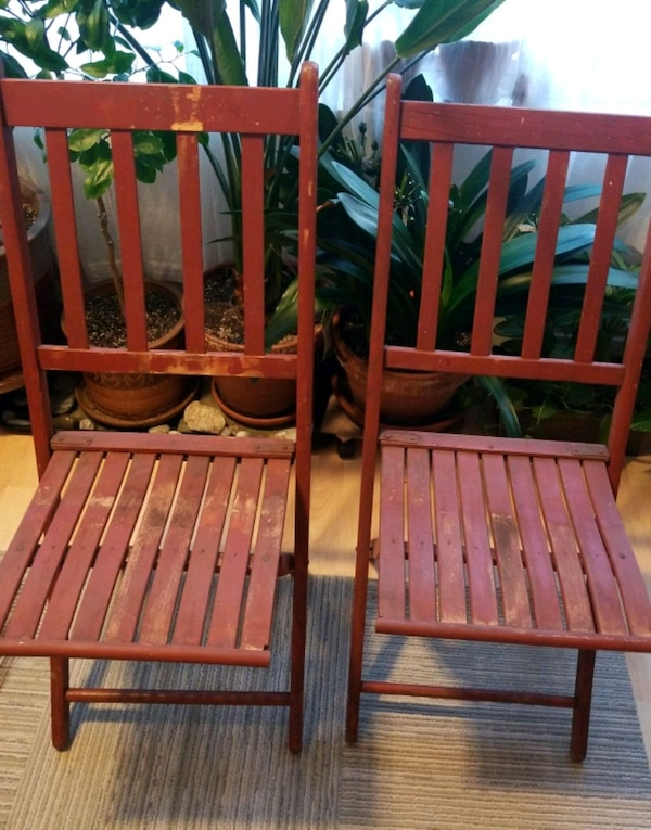 Antique Wooden Folding Chairs 2