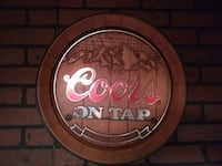 Coors on tap sign Gettysburg, 17325