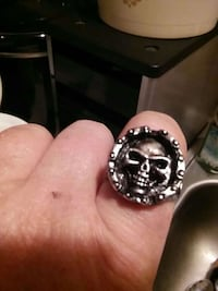 silver-colored skull ring Rustburg, 24588