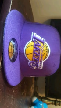 customized Lakers hat with lebron James signatur