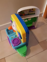 toddler's blue, green, and  yellow plastic kitchen Toronto, M1S 1L5