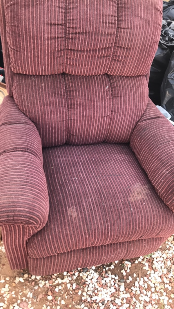 Used brown and red striped sofa chair for sale in Phoenix ...