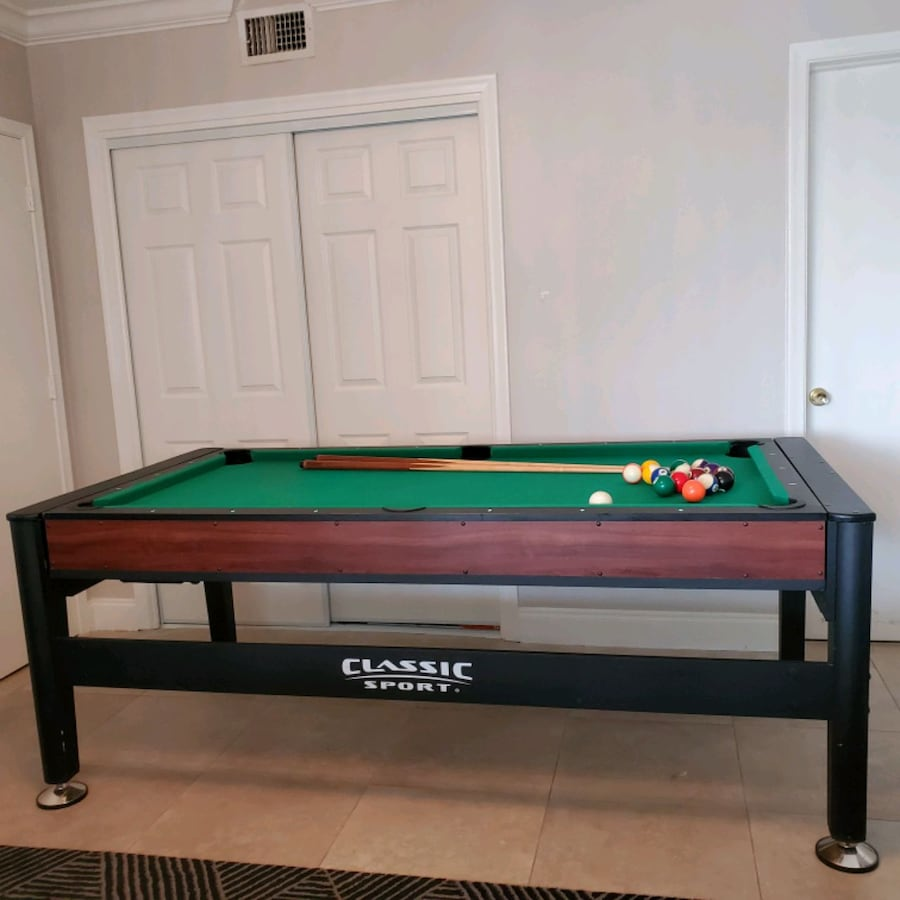 Full size Game Table; Pool and Air Hockey.  326889e7-853f-4724-95d9-c054ef5cbe0b
