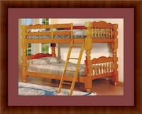 Wooden Twin bunkbed frame with 2 mattress 20708, 20708