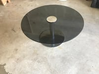 round black metal framed glass-top coffee table Hamilton, L8W 3X7