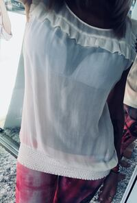Guess See-through top. Size small. Worn only twice.   New Westminster, V3L 2Z7
