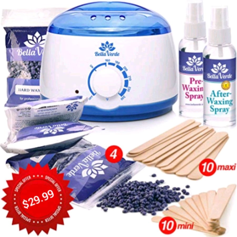 Professional wax heater with accessories