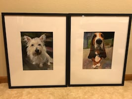 Westie & Basset Hound Dog Prints