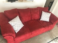 Red love seat & couch great condition. 330 OBO pillows included Roanoke, 24015
