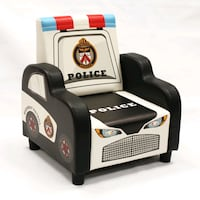 Kids Junior armchair Police theme playroom chair foldable children's
