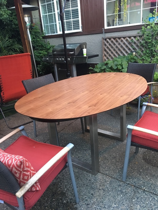 """Brand new table tops, walnut brown and black, oval 68""""  1a517dc8-0e1d-4906-97cb-179f8efde428"""
