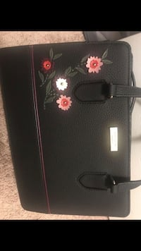 black and red floral leather handbag High Point, 27265