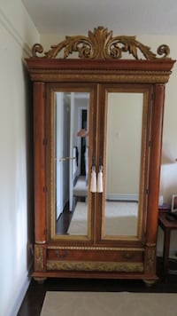 brown wooden wardrobe with mirror Toronto