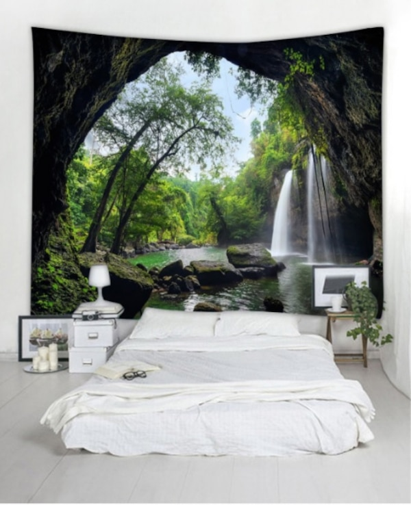 DEEP FOREST WATERFALL SCENERY TAPESTRY NEWDEEP FOREST WATERFALL SCENERY TAPESTRY NEW e8426645-1022-425a-8ec7-5cd346840aed