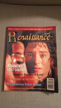 Renaissance magazine with Lord of the Rings article Mahwah, 07430