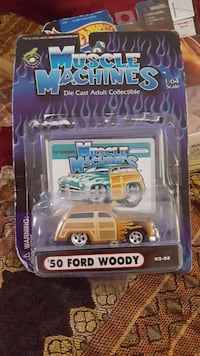 '50 Muscle Machines die cast adult collectible Ford Woody pack