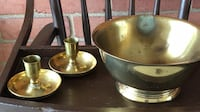 Brass bowl w/candle holders Thurmont, 21788