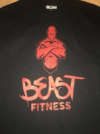 Beast fitness custom t-shirt brand new Williamsport, 17701