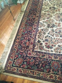 red, white, and black floral area rug Columbia, 29223