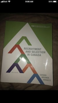 Recruitment and Selection in Canada Textbook - 6th Edition Calgary, T2N