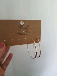 Brand new large size gold hoops  Surrey, V3S 1R8