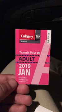 ADULT BUS PASS Calgary, T1Y