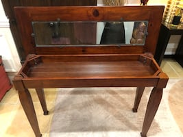 Solid wood entryway/console table