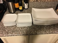 Rectangle dinner plates (10) rectangle medium plate (6) rectangle small plates (7)