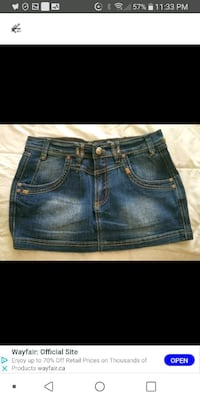 New woman med jeans skirt