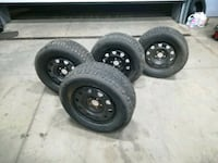 black bullet hole car wheel with tire set Toronto, M1X 1G5