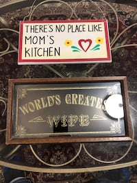 WORLDS GREATEST WIFE & THERE IS NO PLACE LIKE MOM'S KITCHEN SIGNS  Toronto, M1S 1V9