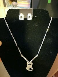 Necklace and earrings Bonfield, P0H