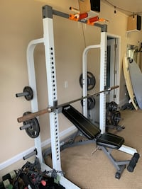 Half rack and weights