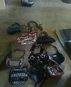 leather bag lot