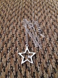 SILVER PLATED STAR WITH CZ NECKLACE