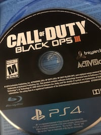 Call of Duty Black Ops III PS4 game disc New York, 10456
