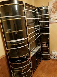 Black and gold wall unit Mississauga, L4T 3R2