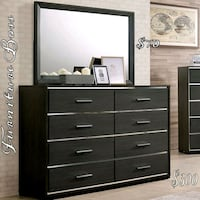 black and brown wooden dresser with mirror Lake Elsinore, 92530