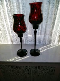 Glass Candle Holders (2) Cicero
