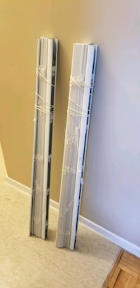 Window blinds (2 sets) white