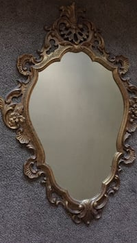 brown wooden framed wall mirror Sparks, 89431