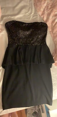 Strapless sparkly little black dress size small Oakton, 22124