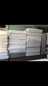 white wooden bed frame and mattress Baltimore, 21222